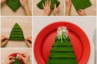 Come piegare i tovaglioli per Natale